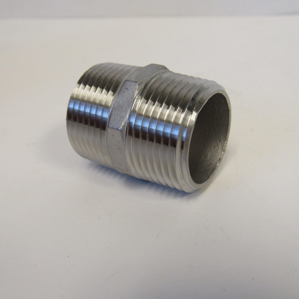 2 Inch 304 Stainless Steel Hex Nipple