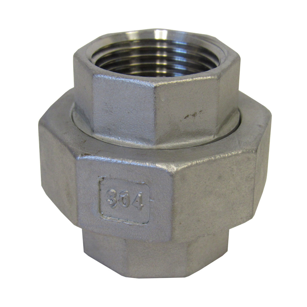 Stainless Steel Union, 304SS, Class 150 - 3/4 Inch NPT