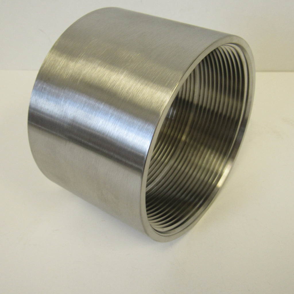 Stainless Steel Straight Coupling, 304 SS, Class 150 - 2-1/2 Inch NPT