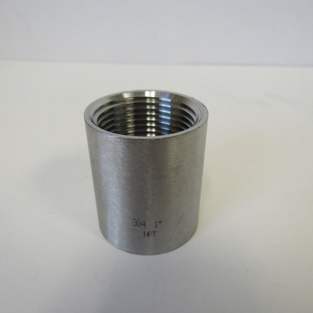 Stainless Steel Straight Coupling, 304 SS, Class 150 - 4 Inch NPT