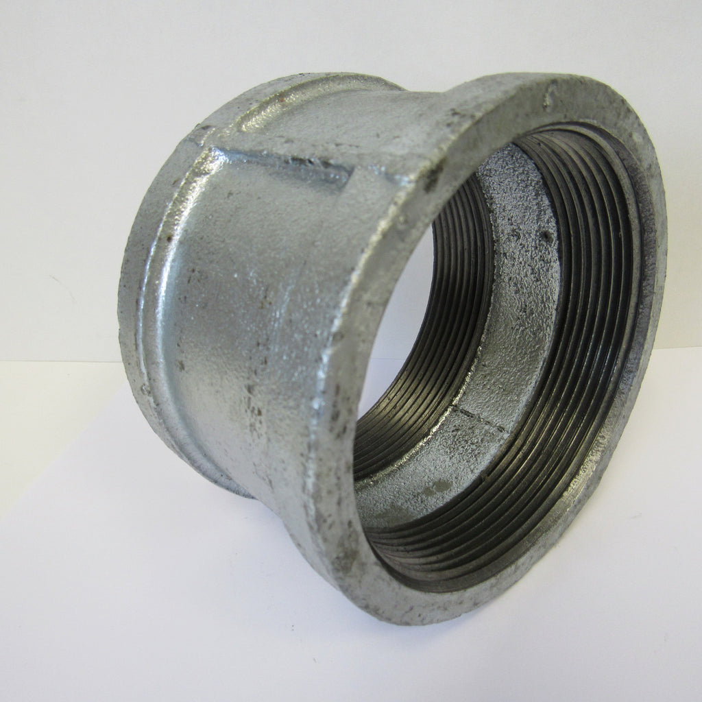 Galvanized Straight Coupling, 1-1/2 Inch NPT Thread