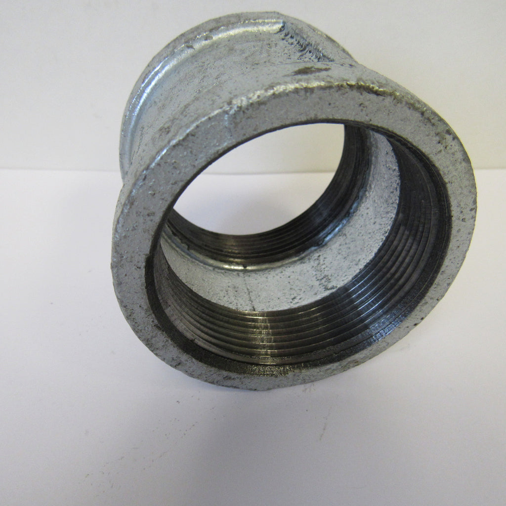 Galvanized Straight Coupling, 2-1/2 Inch NPT Thread