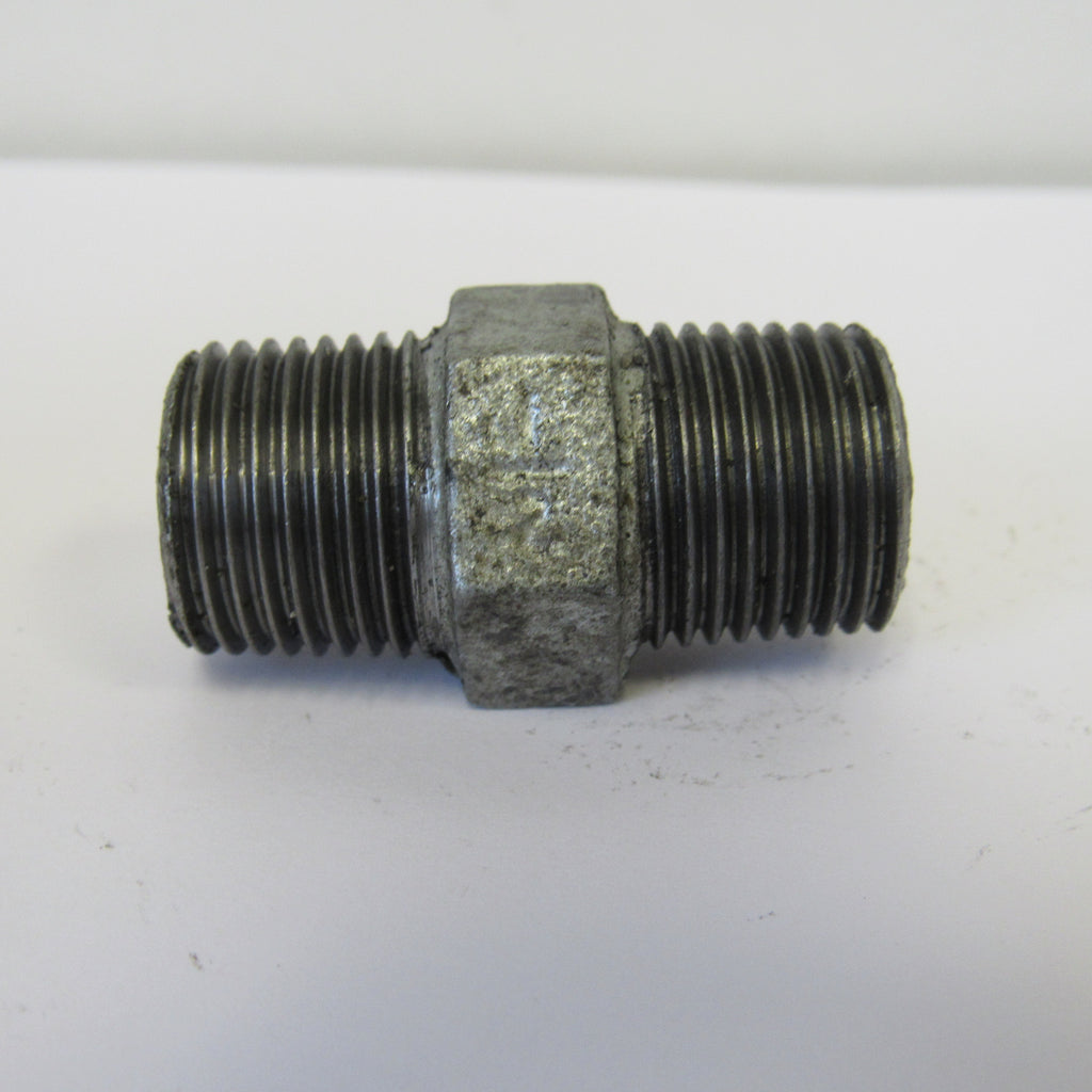 Galvanized Hex Nipple - 1/2 Inch
