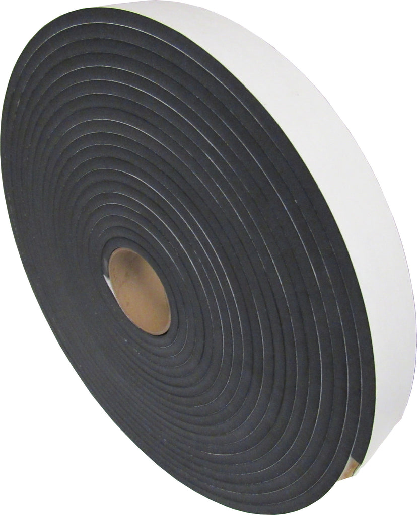 "AIR STRIPPER GASKET - 3/8"" x 2"" W x 50'L ROLL - CLOSED CELL FOAM GASKET - SELF-ADHESIVE BACKING"