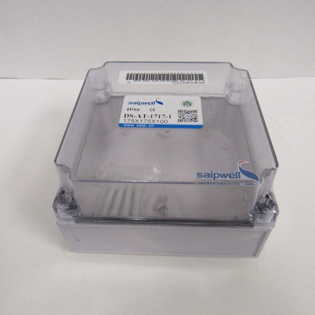 "Saipwell 6"" x 6"" x 4"" Clear PVC Weatherproof Junction Box"