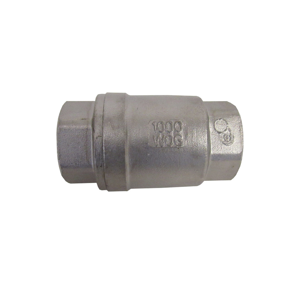 1/2 Inch 304 Stainless Steel Spring Check Valve, 1000 WOG