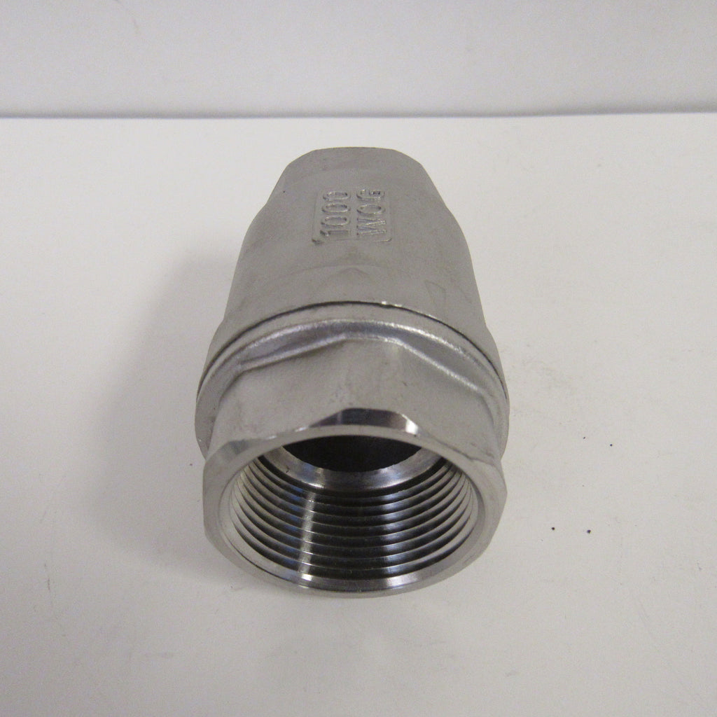 3/4 Inch 304 Stainless Steel Spring Check Valve, 1000 WOG