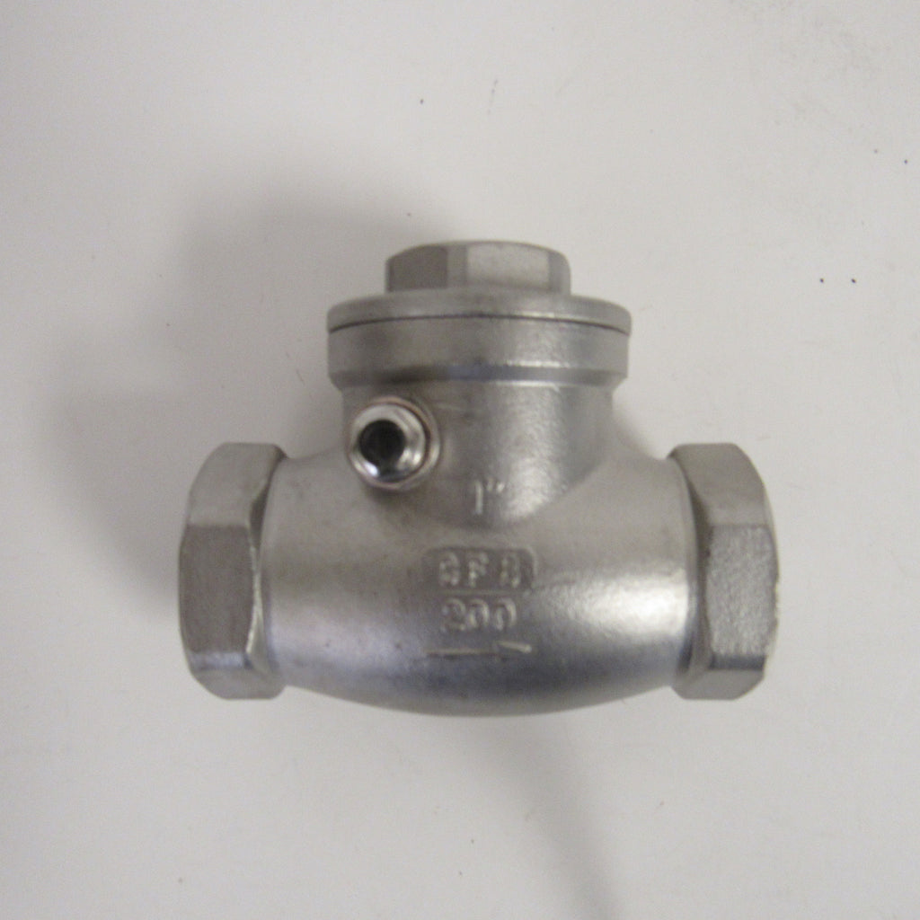 Horizontal Swing Check Valve, 1-1/4 Inch NPT, 304 SS, 200 PSI