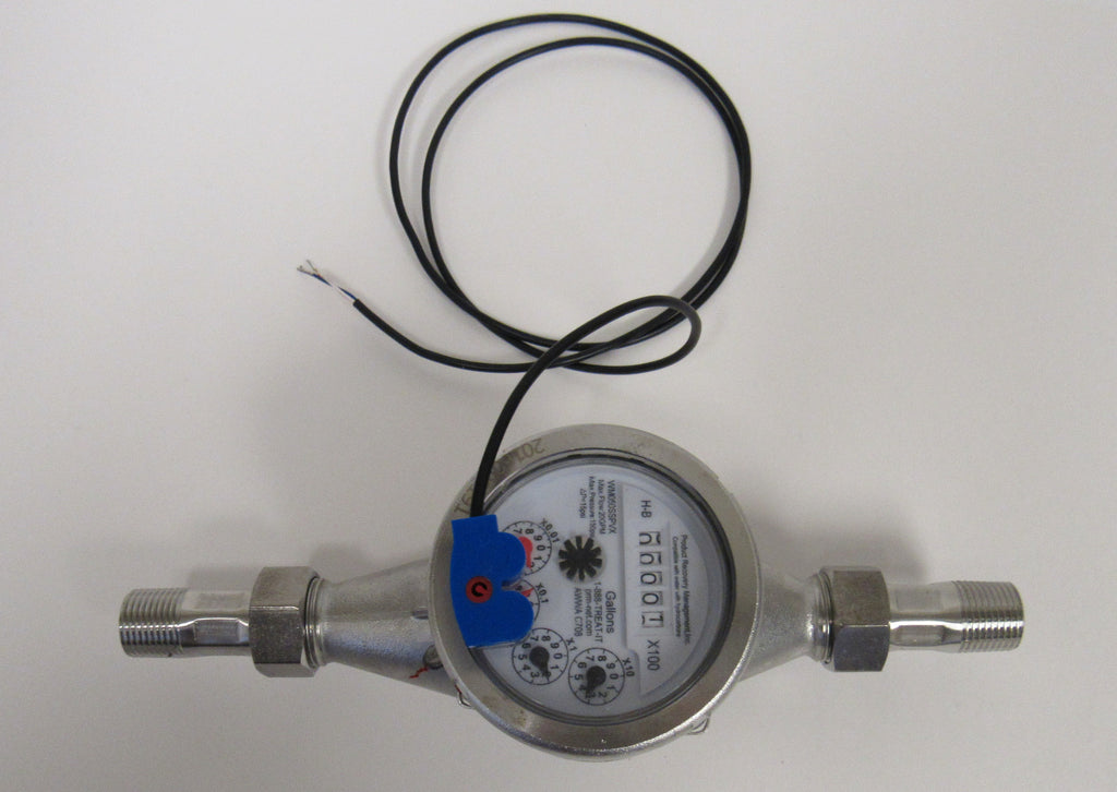 PRM 3/4 Inch NPT Stainless Steel Multi-Jet Totalizing Water Meter with Pulse Output