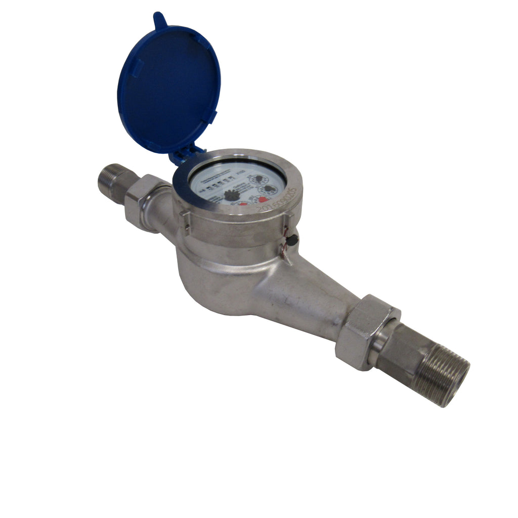 PRM 1-1/4 Inch NPT Stainless Steel Multi-Jet Totalizing Water Meter