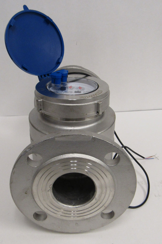 PRM MULTI-JET STAINLESS STEEL WATER METER WITH PULSE OUTPUT - 2 INCH FLANGE