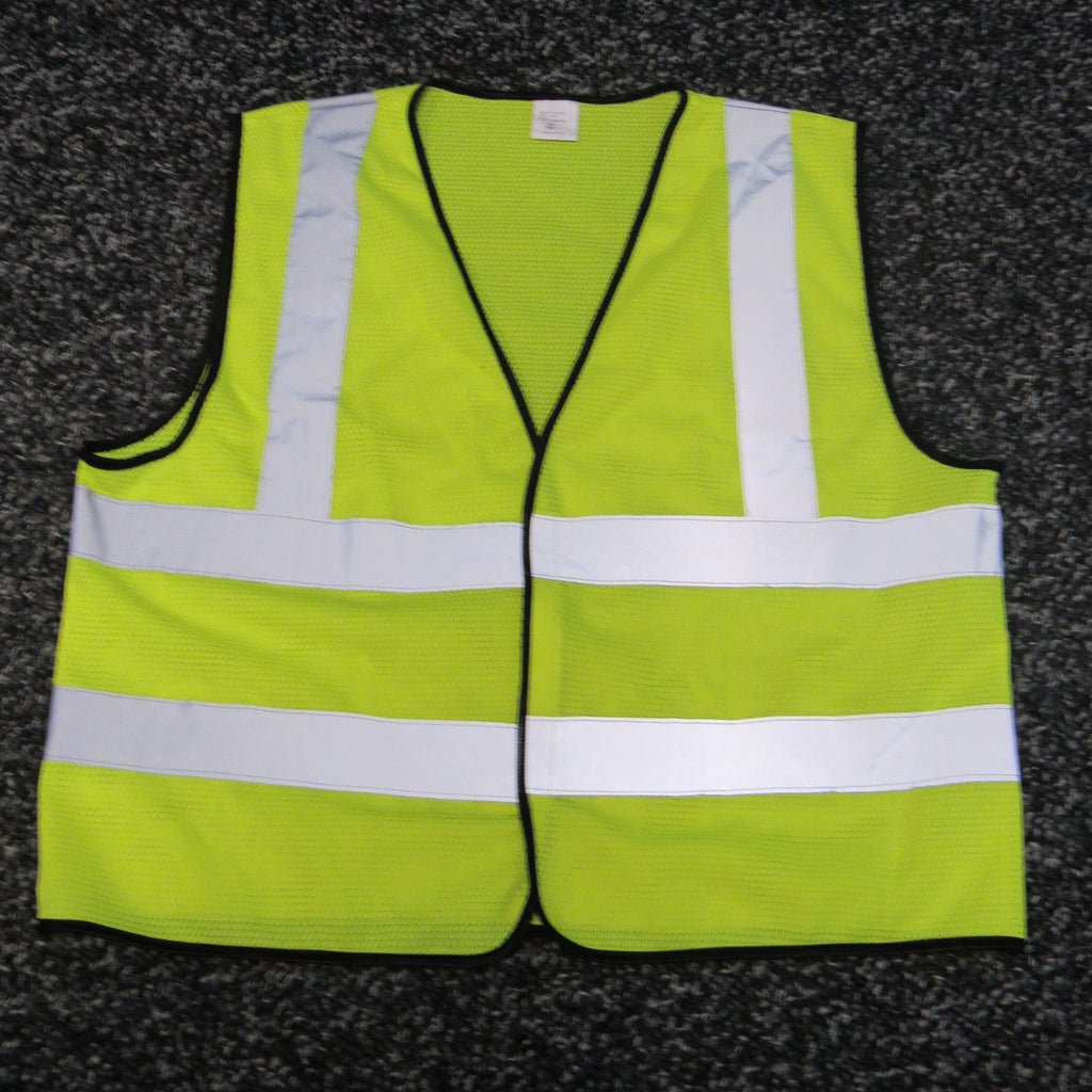 YELLOW MESH SAFETY VEST, CLASS 2, REFLECTIVE