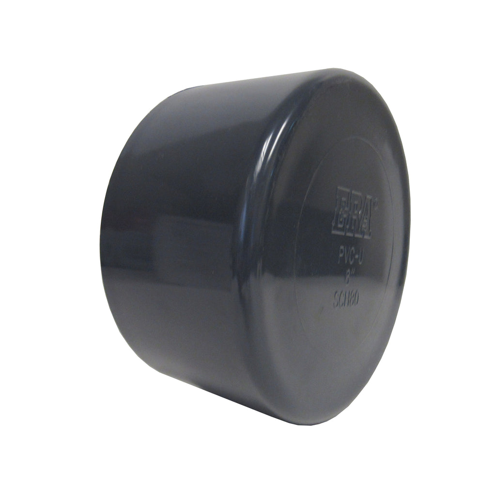 ERA Sch 80 PVC End Cap, 4 Inch Socket