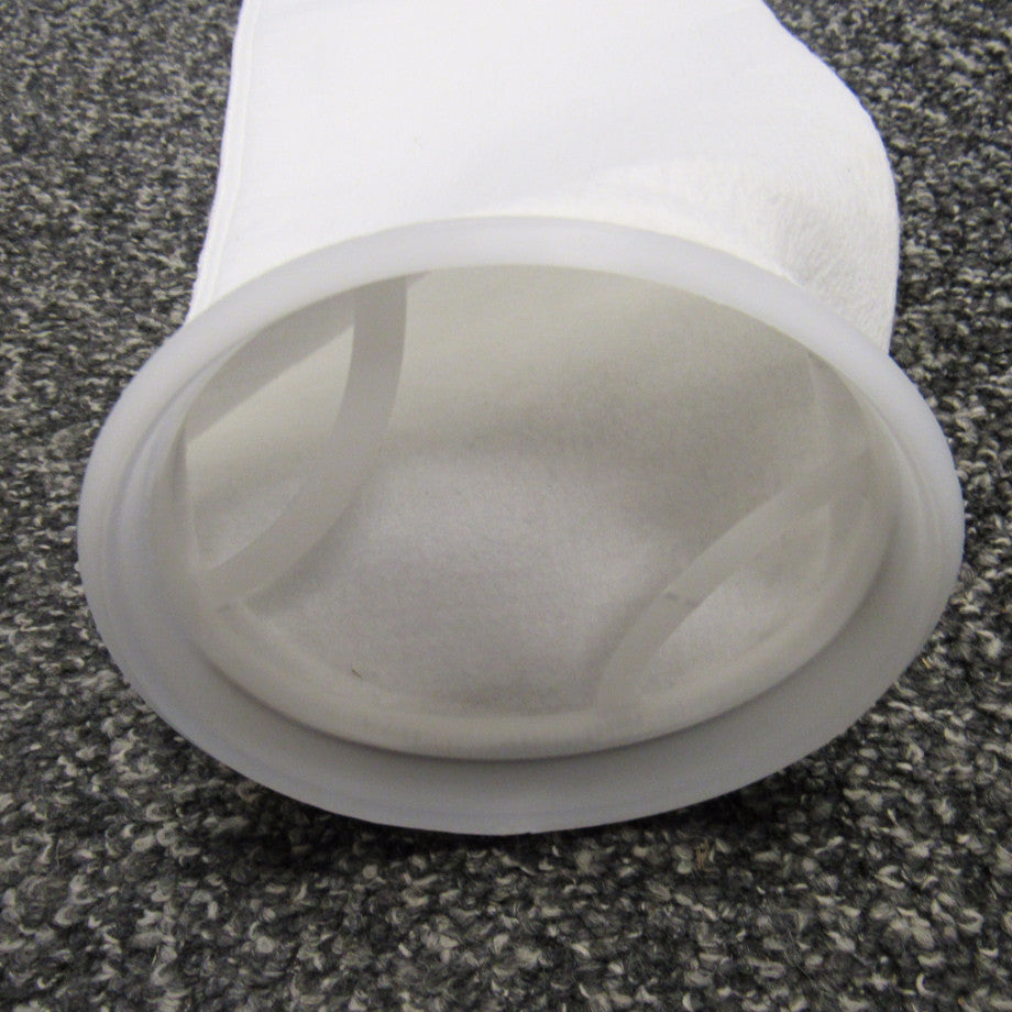#2 Size Liquid Filter Bags - Polyester Felt, Polypropylene Ring - 10 Micron