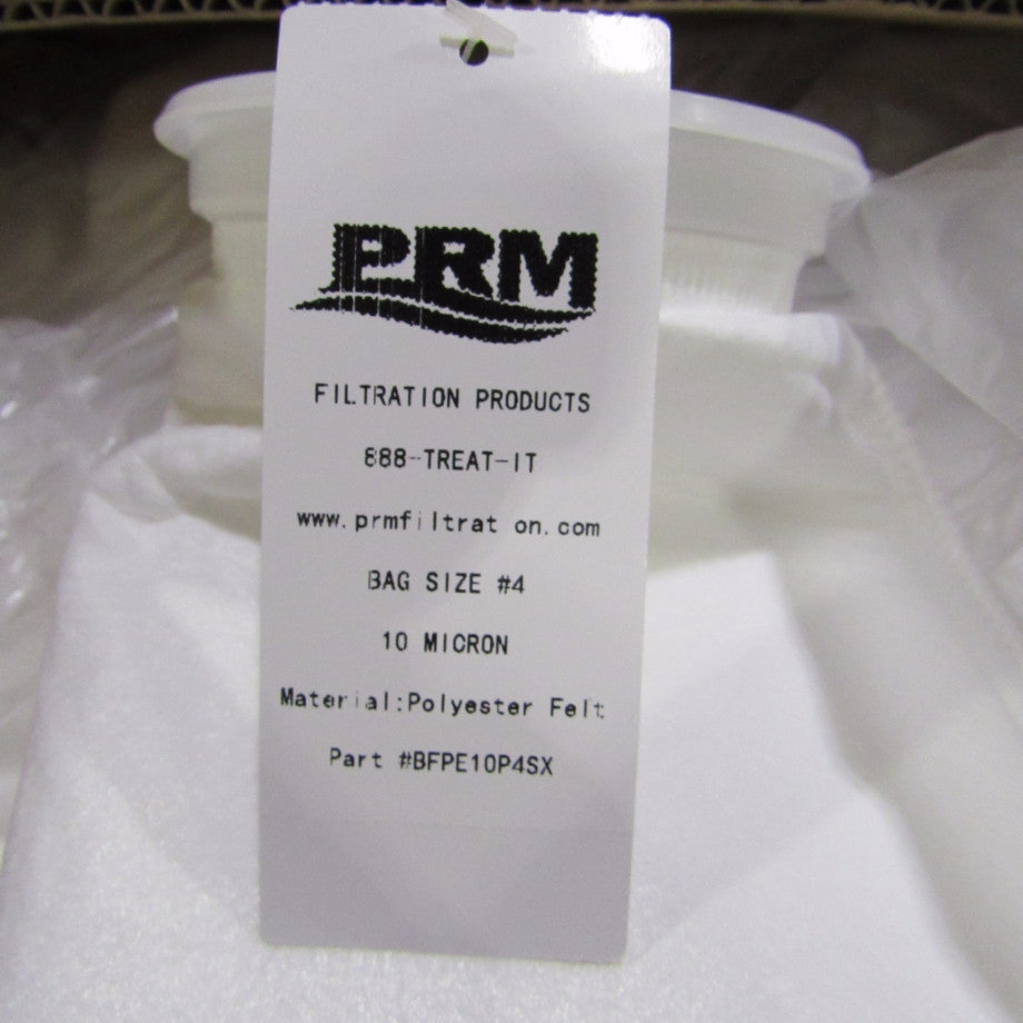 #4 Size Polyester Felt Liquid Filter Bags, Polypropylene Ring - 50 Micron