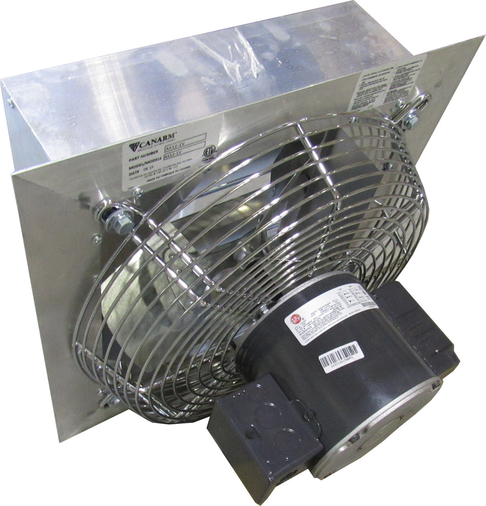 CANARM AX12-1V 12 INCH EXHAUST FAN W/ OSHA GUARD 1700 RPM 115V