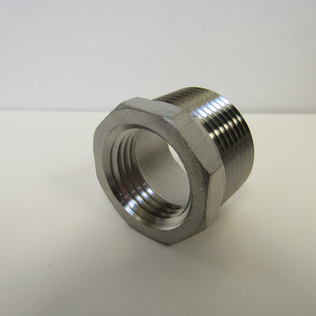 Stainless Steel Reducing Bushing, 304SS, Class 150 - 3/4 Inch X 1/2 Inch