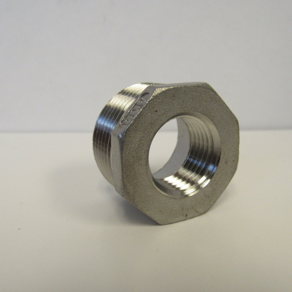 Stainless Steel Reducing Bushing, 304SS, Class 150 - 1 Inch X 1/2 Inch
