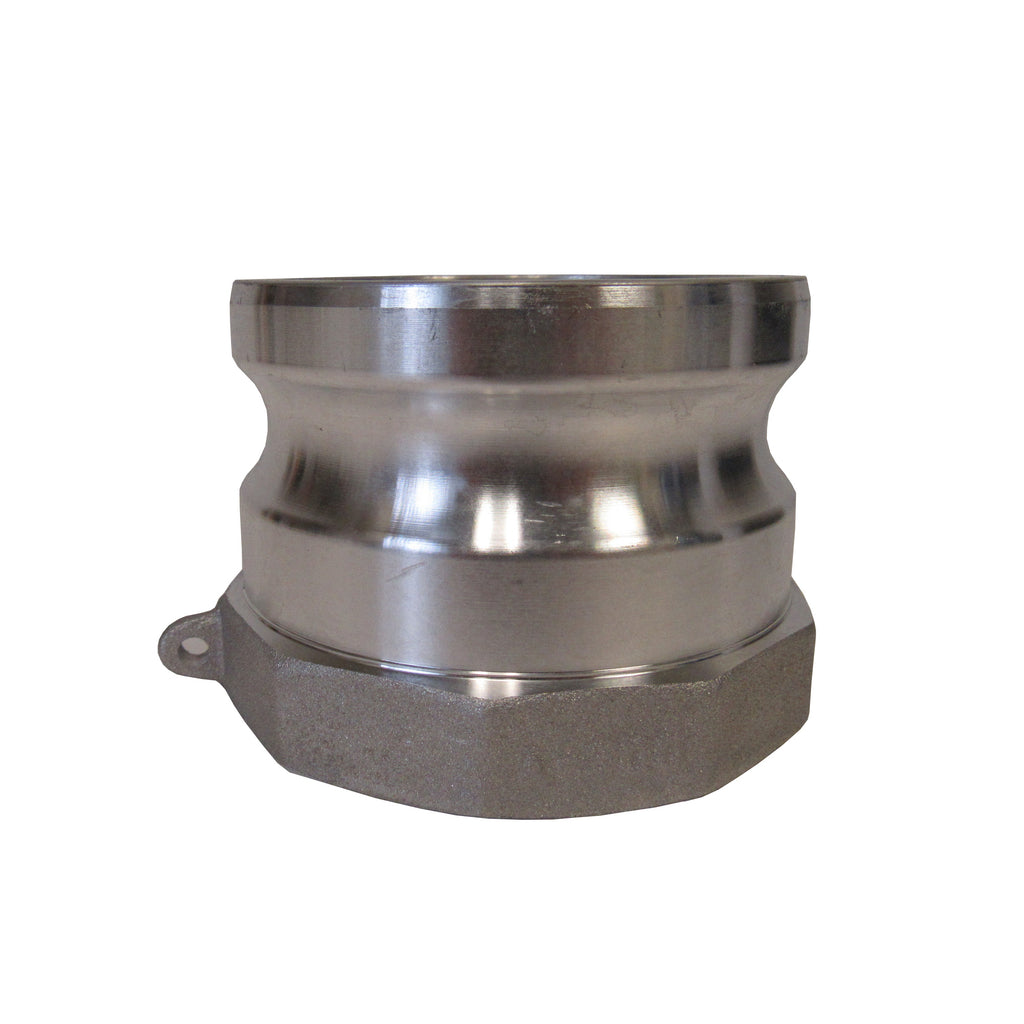 Aluminum Cam & Groove Fitting A400 Male Camlock X Female NPT Thread - 4 Inch