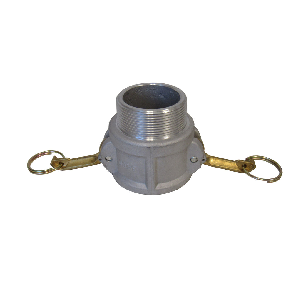 Aluminum Cam & Groove Fitting B400 Female Camlock X Male NPT Thread - 4 Inch