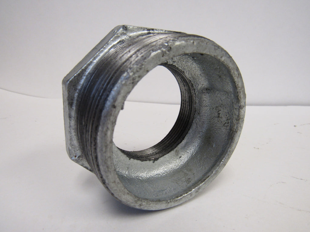Galvanized Reducing Bushing, 2 Inch x 3/4 Inch NPT Thread