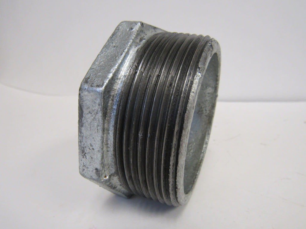Galvanized Reducing Bushing, 4 Inch x 2 Inch NPT Thread