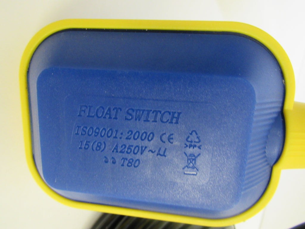 Float Level Controller Switch, 25 Ft. Cable with Weight, 125/250VAC, Normally Open
