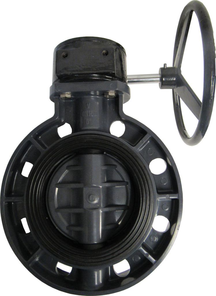 ERA Sch 80 PVC 6 Inch Butterfly Valve, Gear Operated