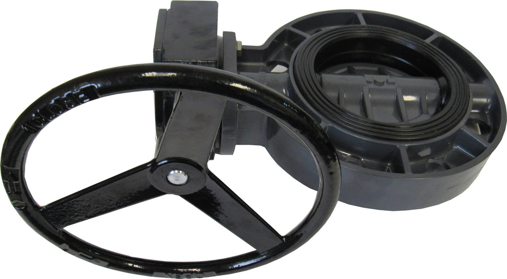 ERA Sch 80 PVC 8 Inch Butterfly Valve, Gear Operated