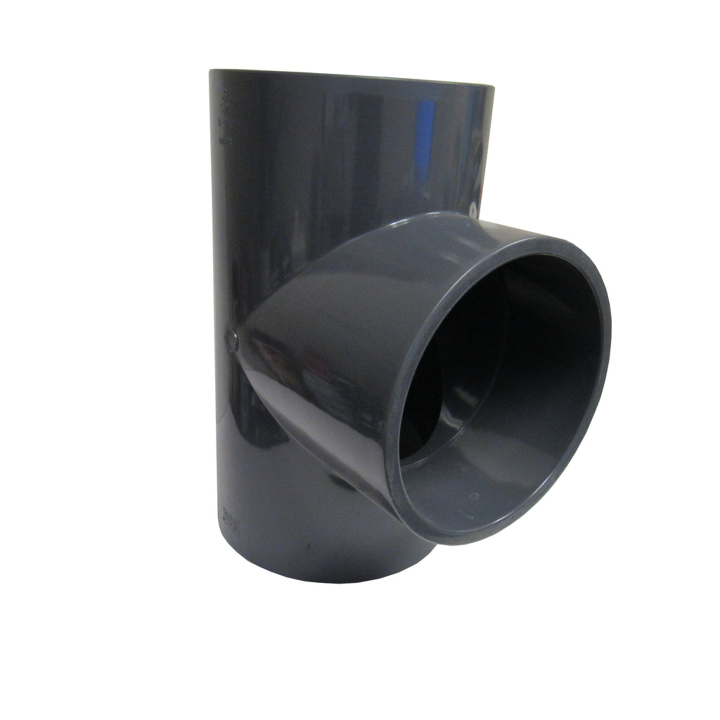 ERA Sch 80 PVC Straight Tee, 6 Inch Socket Connect
