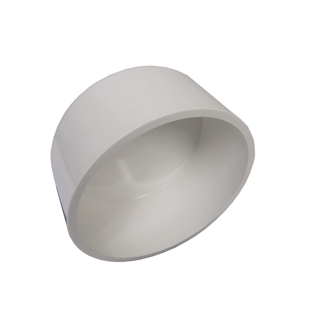 ERA Sch 40 PVC End Cap, 6 Inch Socket Connect