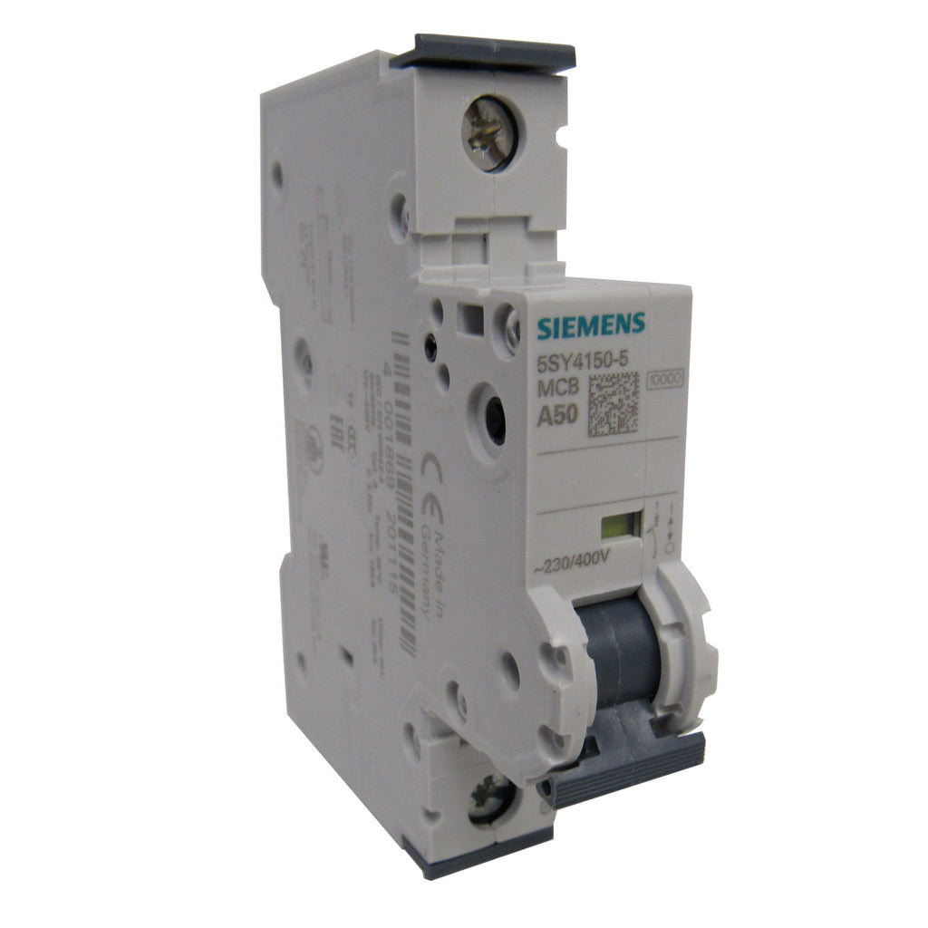 Siemens 5SY41505 Mini Circuit Breaker - 1 Pole - 230/400 V - 50 Amp