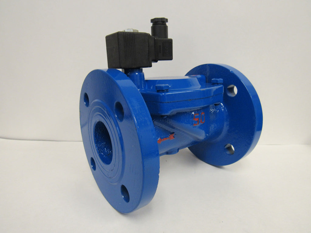 SOLENOID VALVES - CAST IRON, 24VDC; NORMALLY CLOSED; FLANGED WITH VITON SEALS
