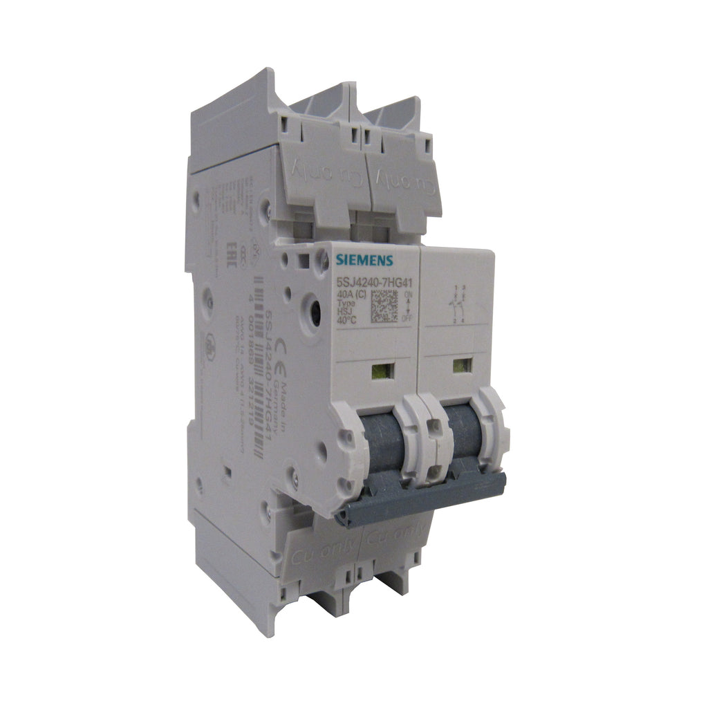 Siemens 5SJ4240-7HG41 Mini Circuit Breaker - 2 Pole - 240 V - 40 Amp