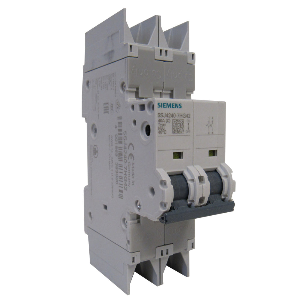 Siemens 5SJ4218-7HG42 Mini Circuit Breaker - 2 Pole - 480 V - 15 Amp