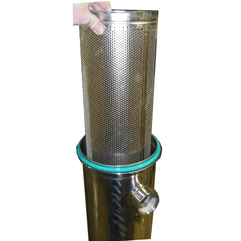 Strainer basket in stainless steel for filter vessel