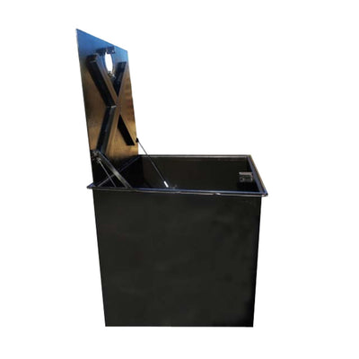 WELL VAULT - 24 X 24 X 12 INCH, LOCKING LID, WATER RESISTANT, LIFT ASSIST - A0717-724VWLA