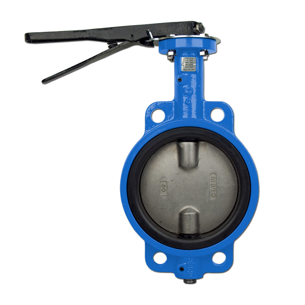 Bonomi N500S Lever Operated Butterfly Valves, EPDM Seat, Wafer Body, Stainless Steel Disc