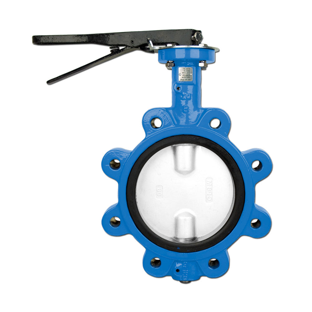 Bonomi N501N Lever Operated Butterfly Valves, EPDM Seat, Lug Body, Nylon Coated Disc