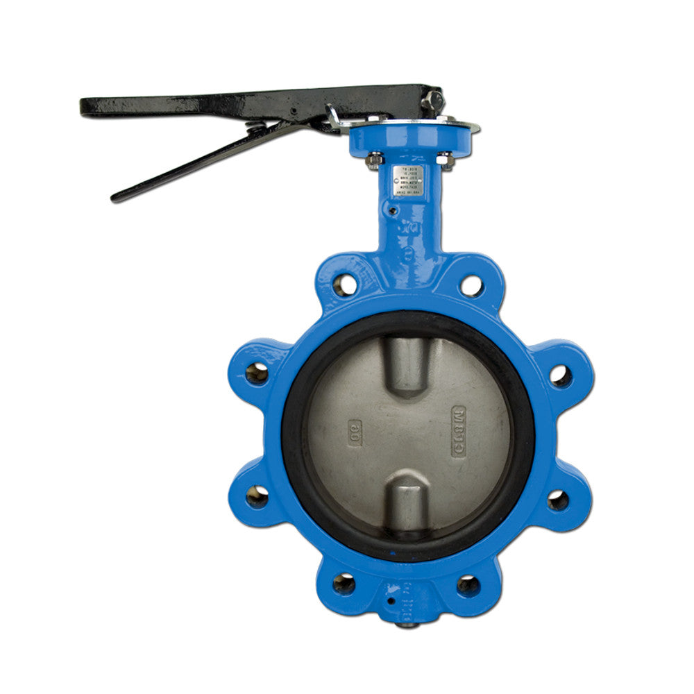BONOMI N501S LEVER OPERATED BUTTERFLY VALVE, EPDM SEAT, LUG BODY, STAINLESS STEEL DISC