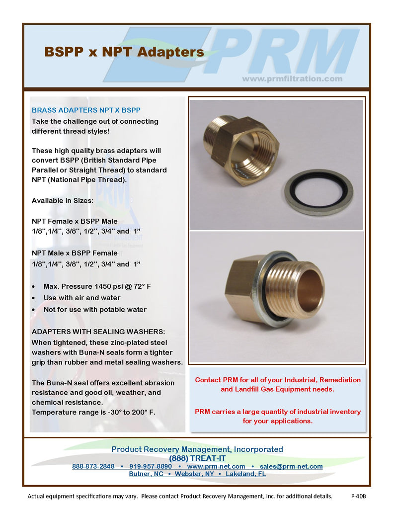 Brass Adapter - 3/8 Inch NPT Female X 3/8 Inch BSPP Male