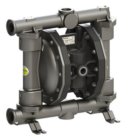 "Fluimac Phoenix P160 Air Operated Double Diaphragm Pump - 316 SS Body - 1"" FNPT - 45 GPM - PTFE Seals"
