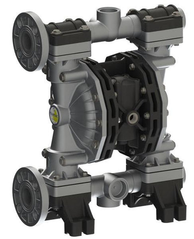 "Fluimac Phoenix P400 Air Operated Double Diaphragm Pump - AL Body - 1.5"" Flange - 100 GPM - EPDM Seals"