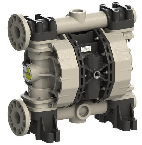 "Fluimac Phoenix P700 Air Operated Double Diaphragm Pump - PP Body - 2"" Flange - 185 GPM - EPDM Seals"