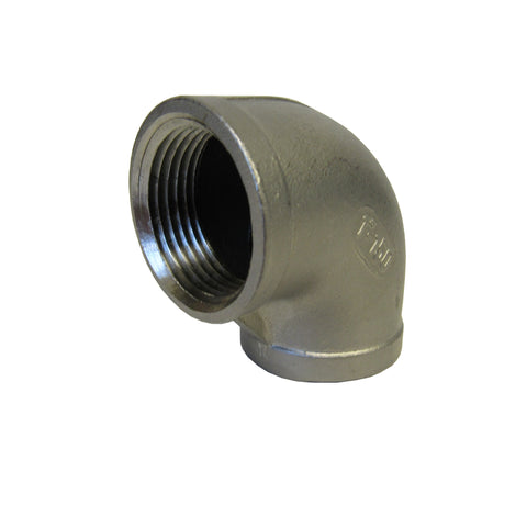 304 Stainless Steel 90 Degree Elbow, Class 150, 3/4 Inch NPT Thread