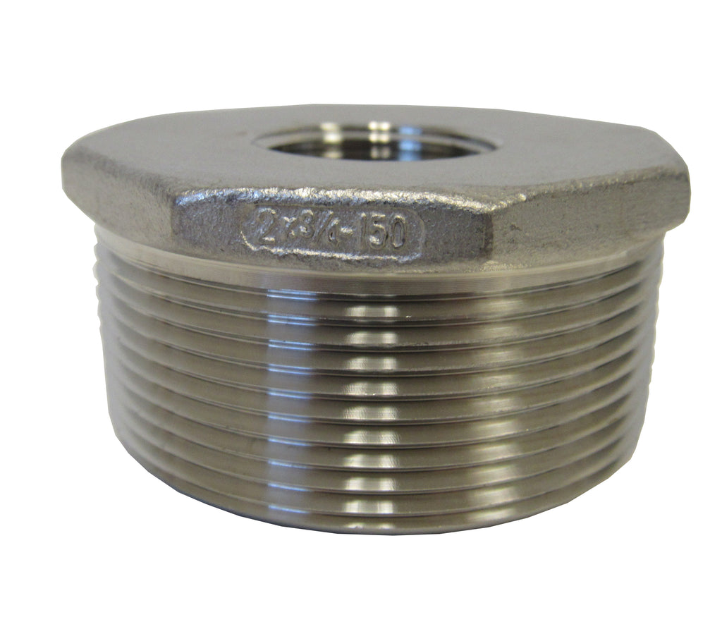 Stainless Steel Reducing Bushing, 304SS, Class 150 - 2 Inch X 3/4 Inch