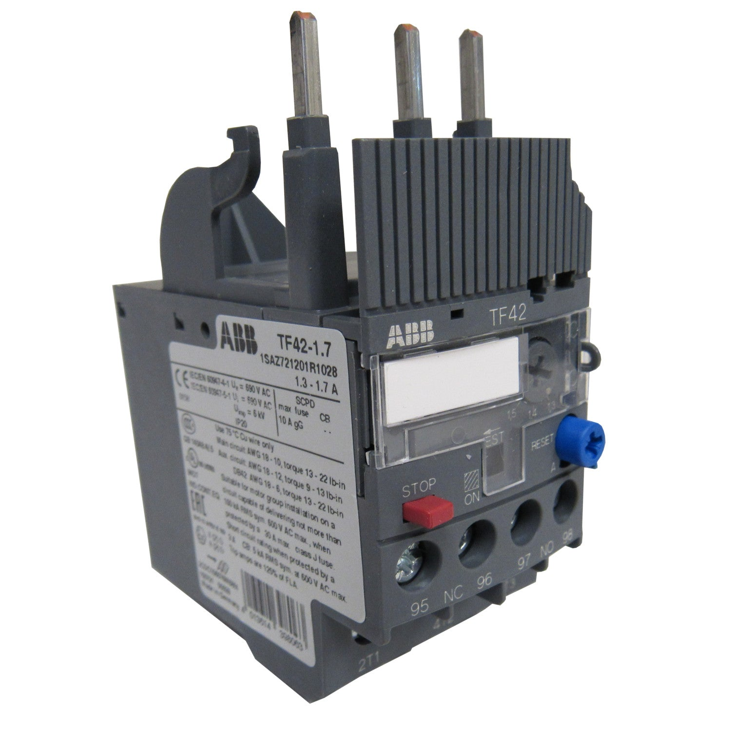 ABB TF42-1 0 THERMAL OVERLOAD RELAY - 0 74-1 00 AMP – PRM Filtration