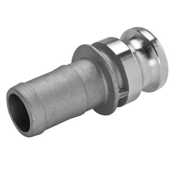 Stainless Steel Cam & Groove E150 Fitting, 1-1/2 Inch Male Camlock X Hose Shank