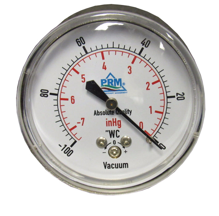 "VACUUM GAUGE; 0 TO -100"" WC/HG"
