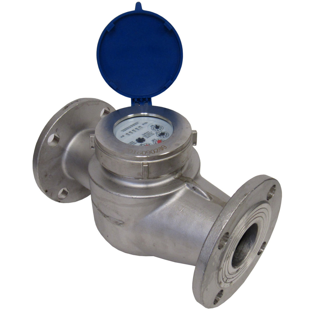 PRM MULTI-JET STAINLESS STEEL TOTALIZING WATER METER - 2 INCH FLANGE